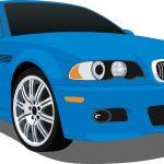 Blue BMW Car
